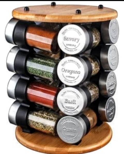 16 Jar Spice Rack - Olde Thompson 1