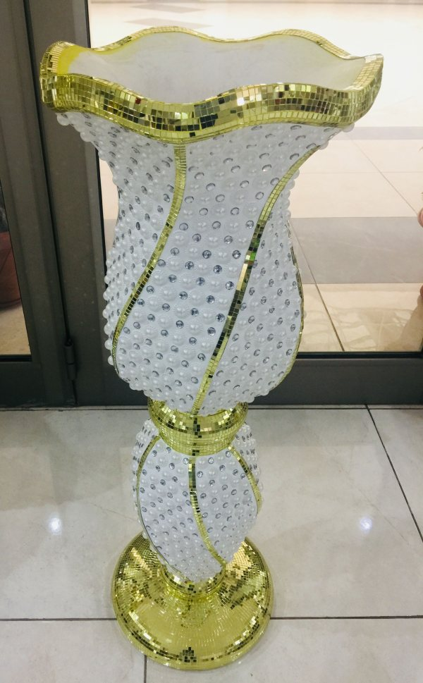 Tall Decorative Floor Vase - Moremi Gold Vase 1