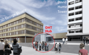 DHT Hub guide - shows the hub in relation to 50 George Square