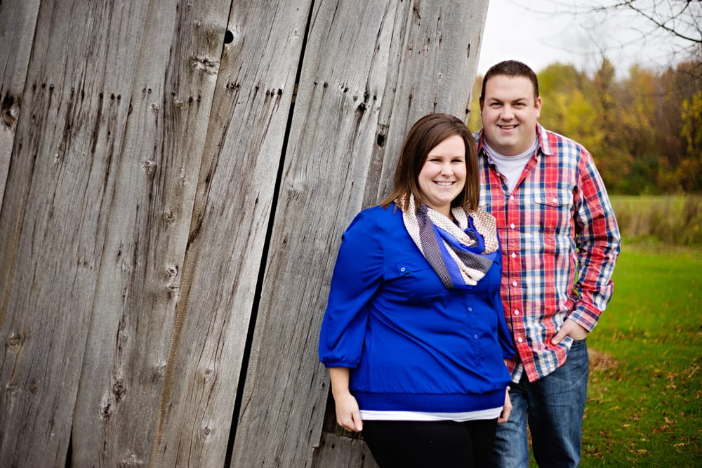 Cornwall Engagement Session - woman in blue shirt