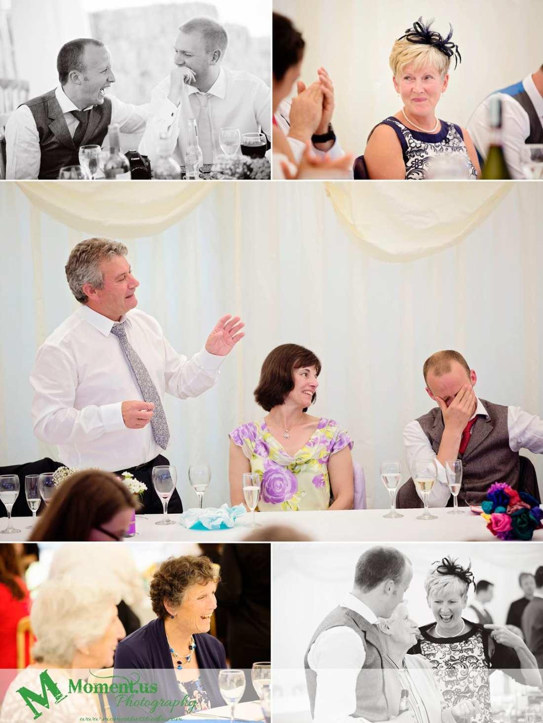 Fort Belan Wedding - father of groom making speech