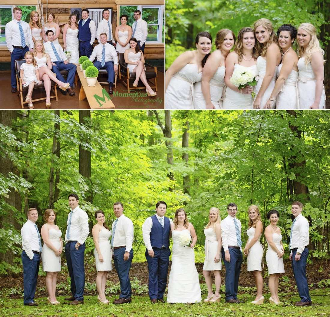 rustic country wedding photos - wedding party in forest