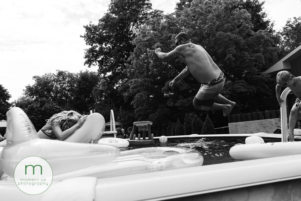 dad doing cannonball