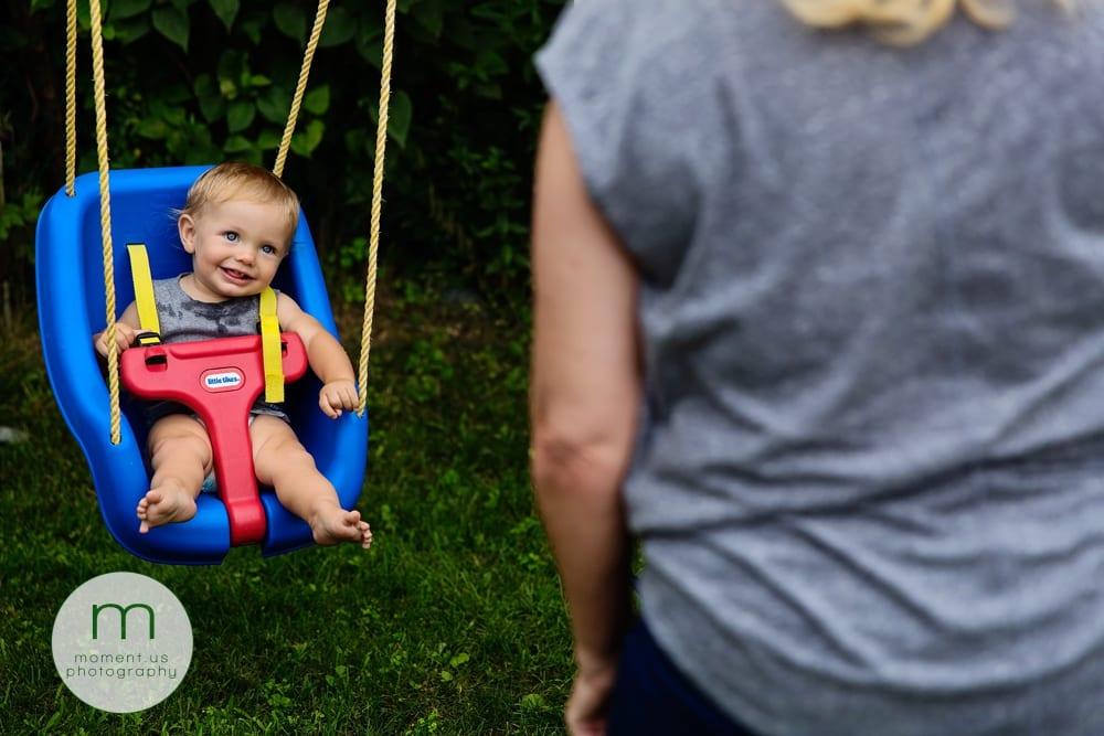 boy in swing