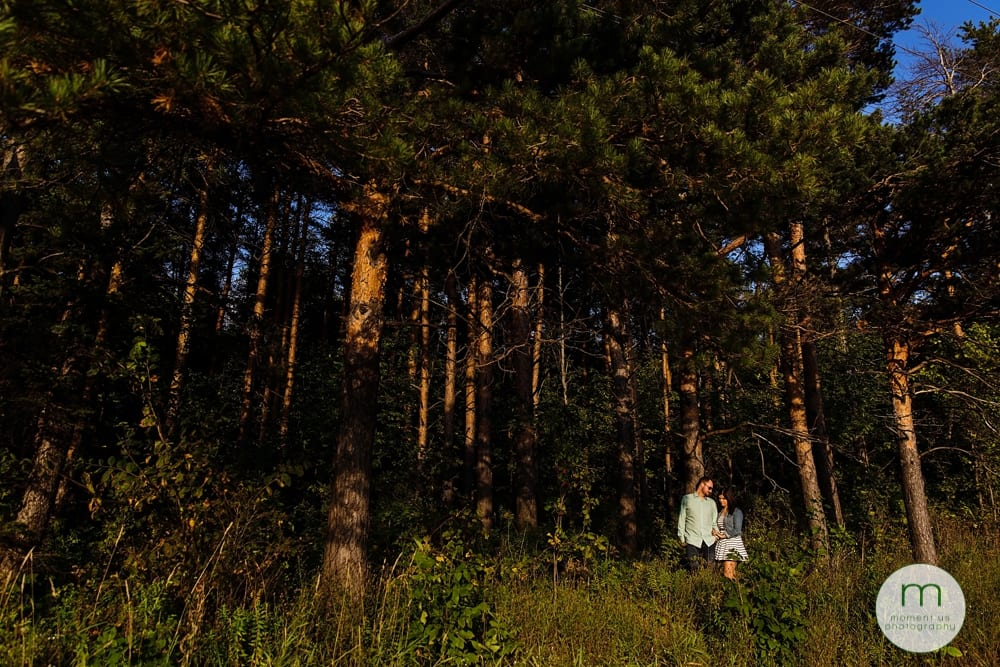 Cornwall couple in forest
