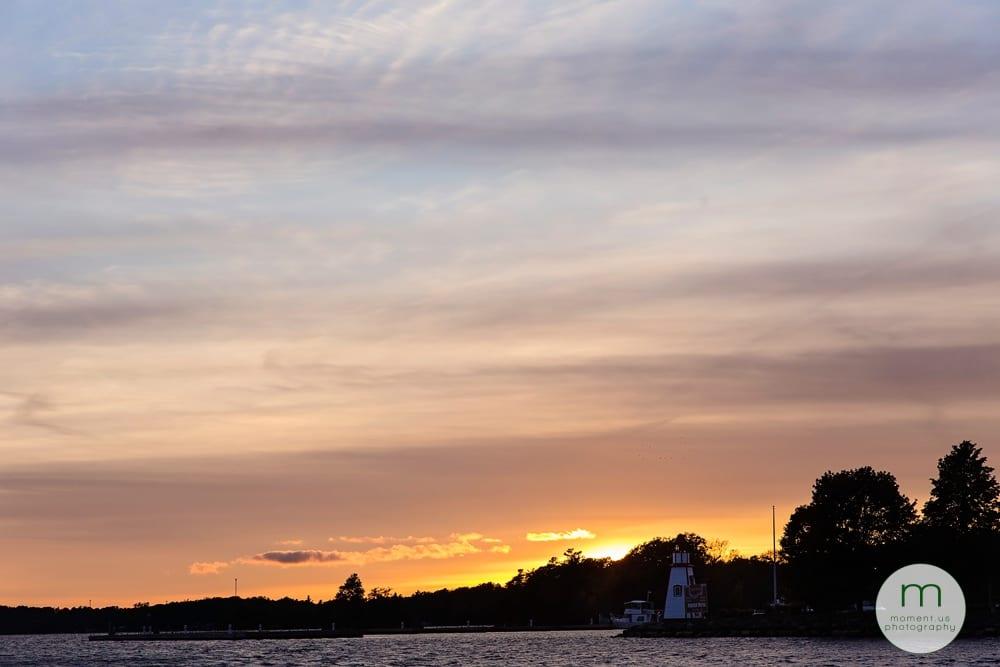 sunset on lighthouse