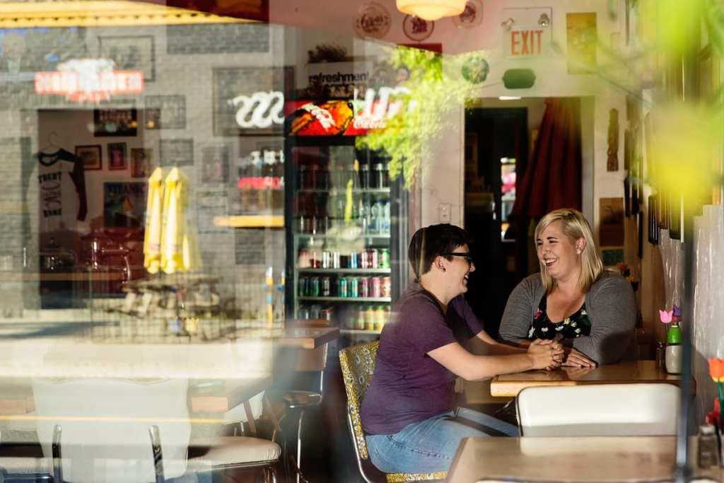 Women fiancees in Ontario diner