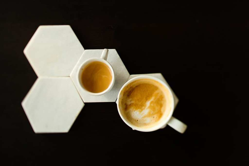 Geometric modern coffee latte and espresso