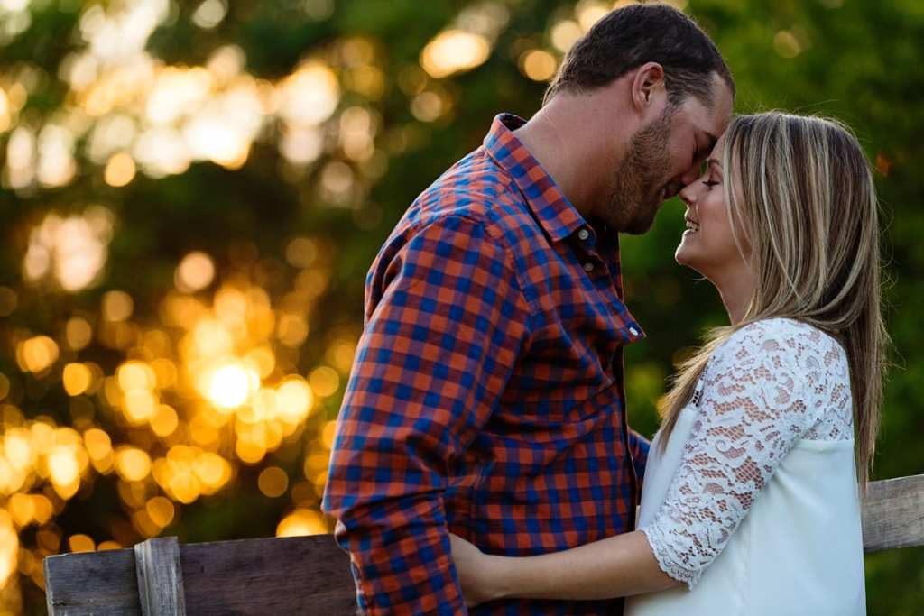 Rural Ontario sunset engagement session