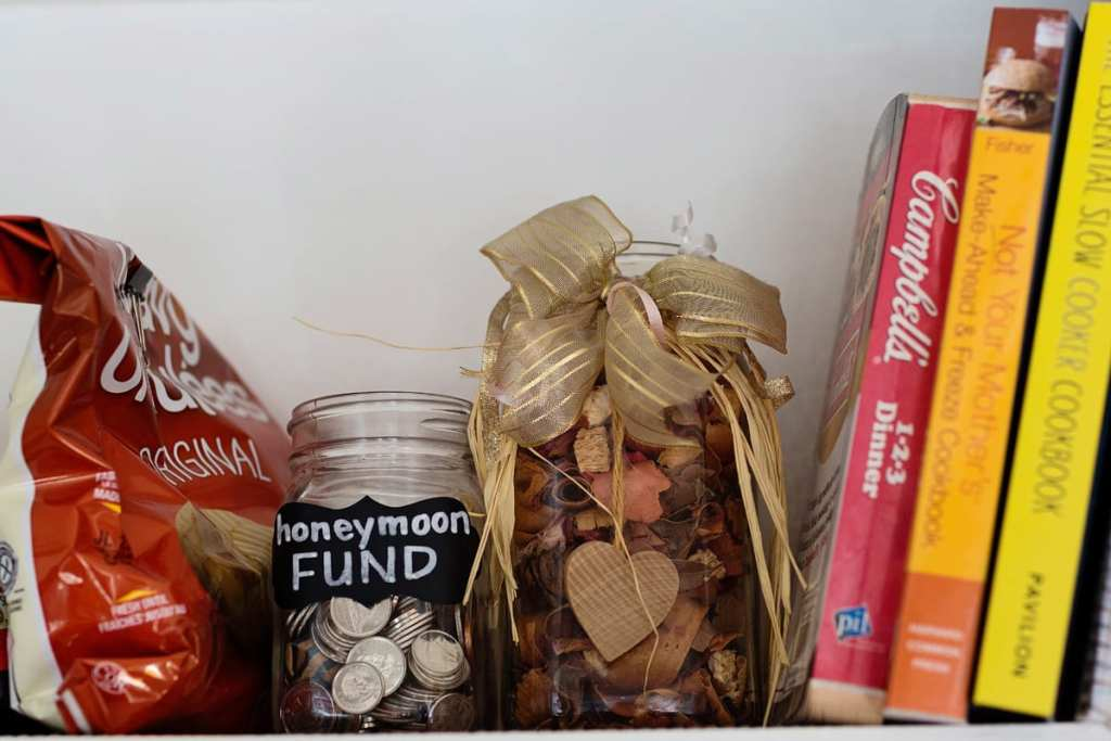 coin jar for honeymoon fund