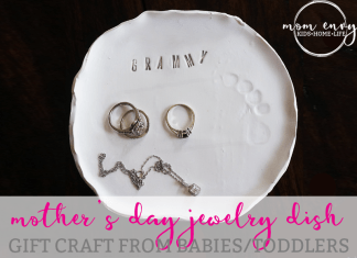 mothers day craft diy jewelry dish