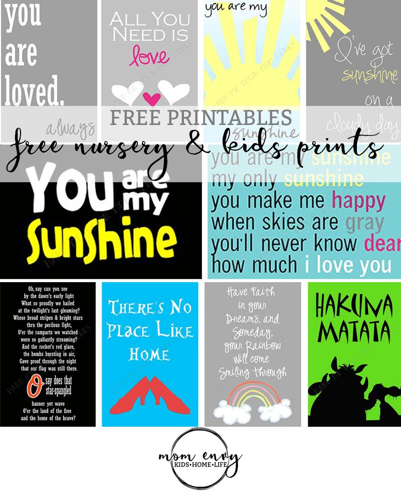 free nursery printables 21 free printables for nurseries or kid s