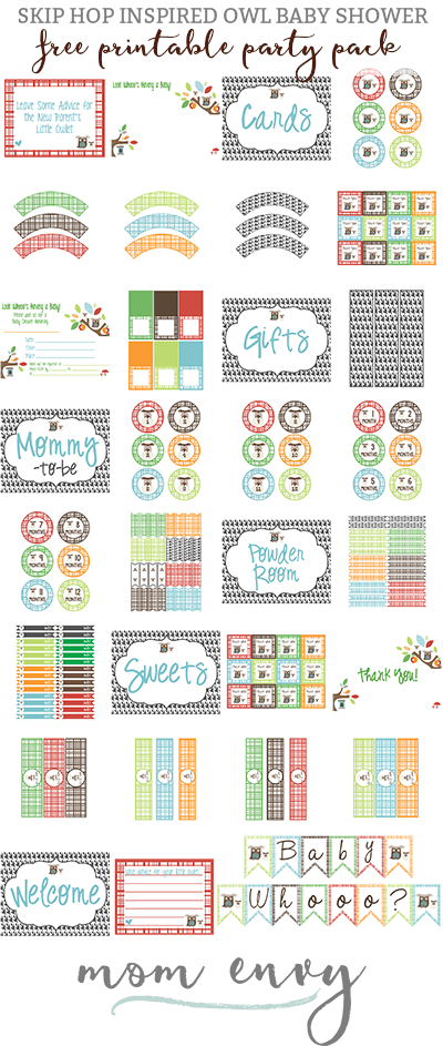 baby shower skip hop owl mom envy party pack