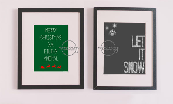 free christmas printable posters prints