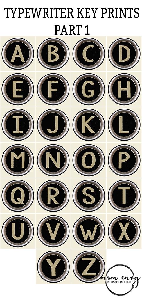 typewriter keys mom envy free printables