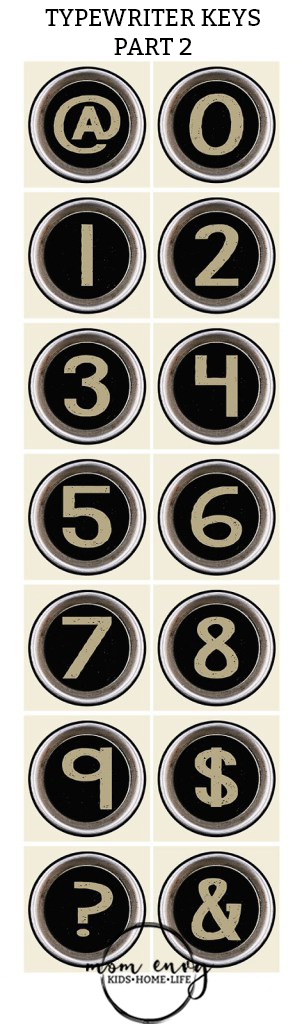 typewriter keys mom envy numbers free prints