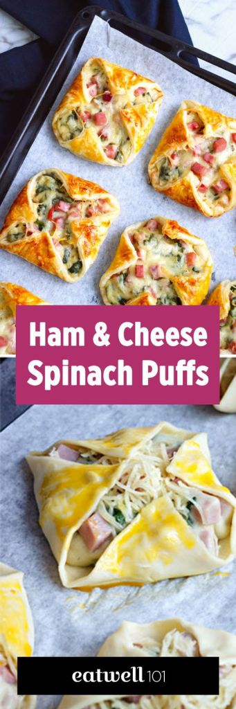 leftover ham recipes eat well 101 ham and cheese spinach puffs