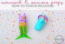 mermaid and unicorn peeps mom envy