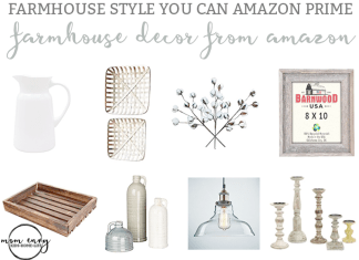 Farmhouse Decor from Amazon Mom Envy. Get a little farmhouse style delivered in 2 days with Amazon prime.