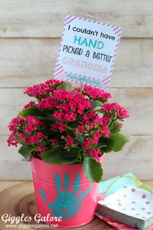 Mother's Day Crafts Round -up From Mom Envy - Giggles Galore Simple Flower pot