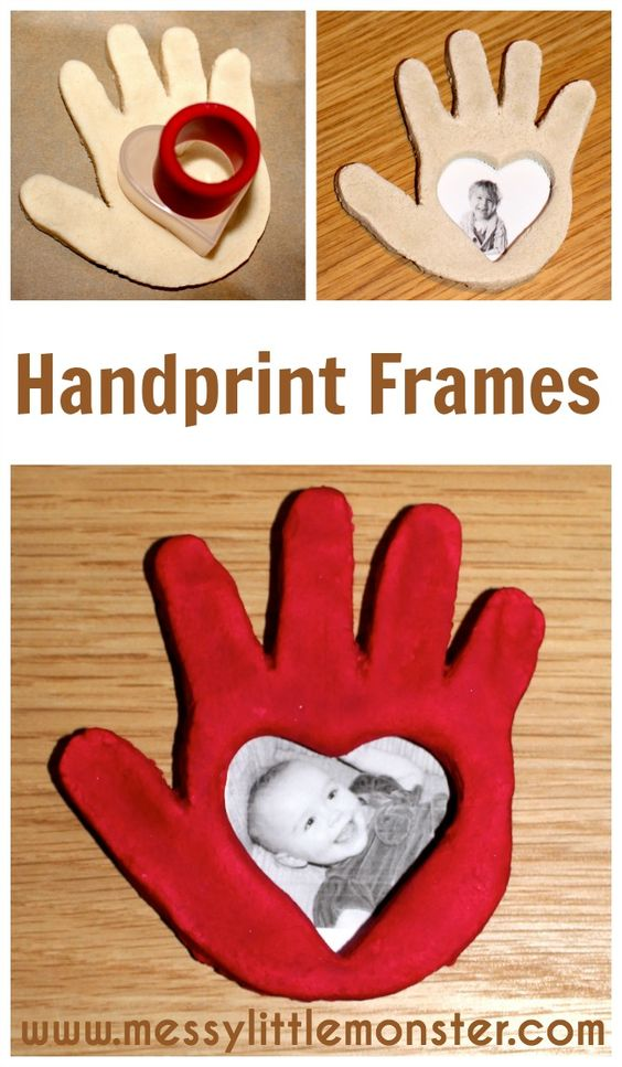 Mother's Day Crafts Round -up From Mom Envy - Messy Little Monster Salt dough frame