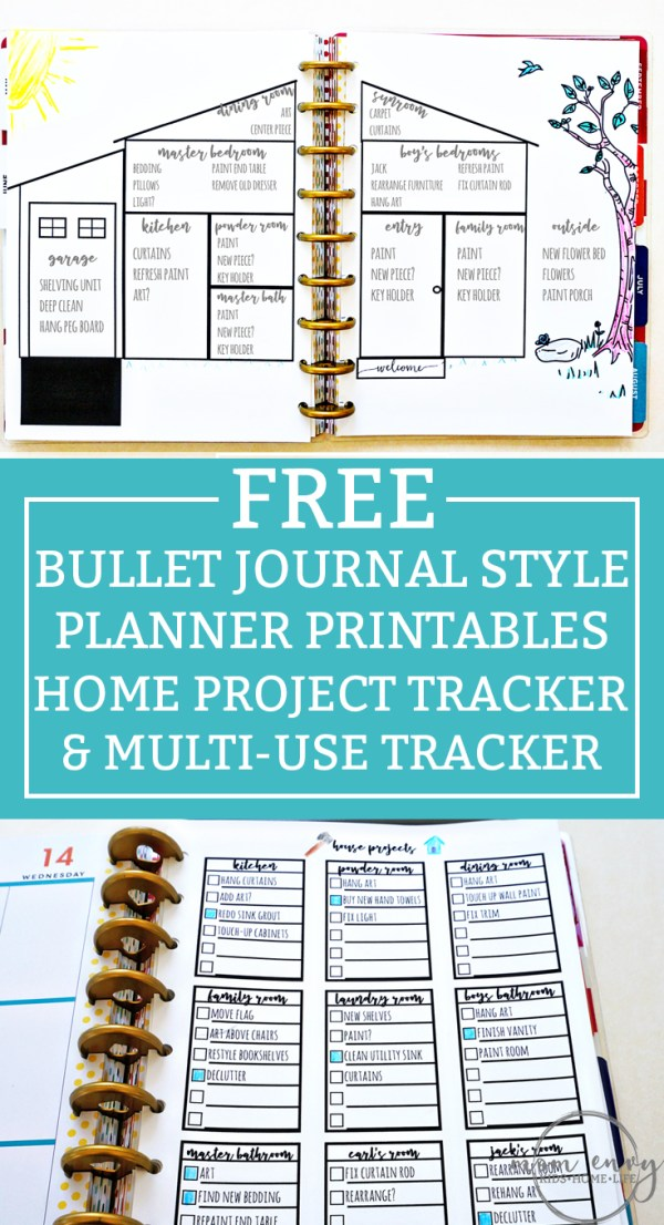 bullet journal inspired free printables available in multiple