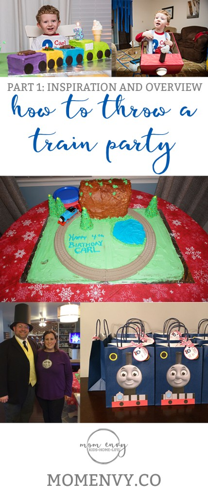 Train Themed Birthday Party Ideas from https://momenvy.co. Thomas the Tank Engine birthday party ideas. Train party. Thomas party. Get some awesome ideas about how to throw a train party that your kid's friends will love!