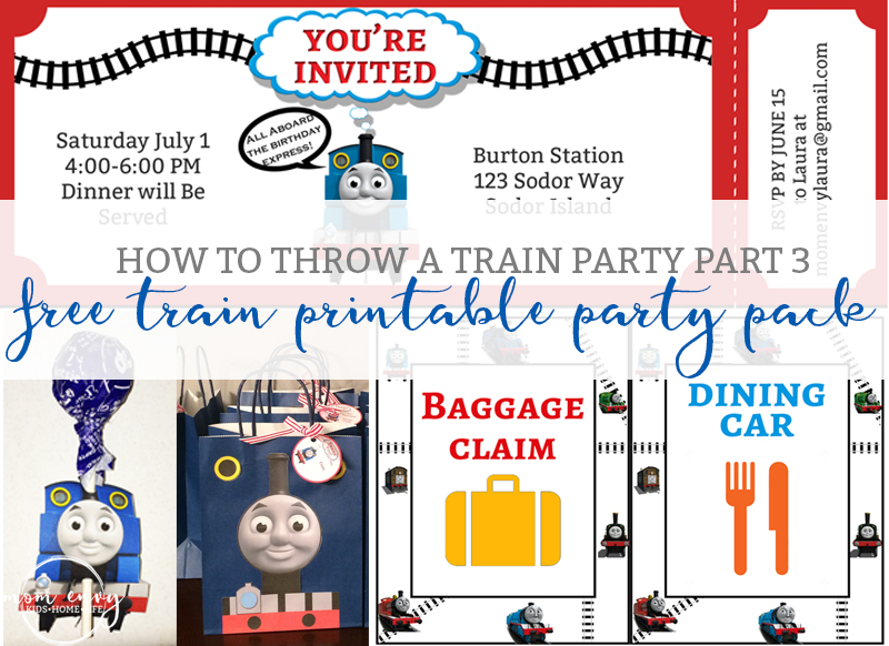 Free Train Party Printables - Free Thomas the Tank Engine Party Pack