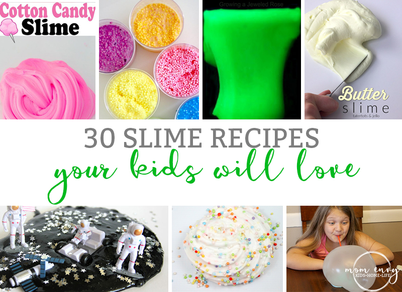 30 Slime Recipes Your Kids will Love