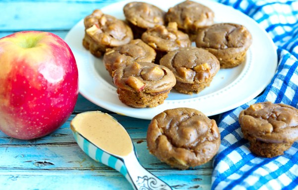 ApplePeanutButterBlenderMuffins- From Happy Healthy Mama