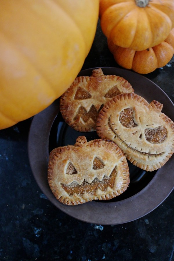 Jack O Lantern Pumpkin Hand Pies from Acorns Custard