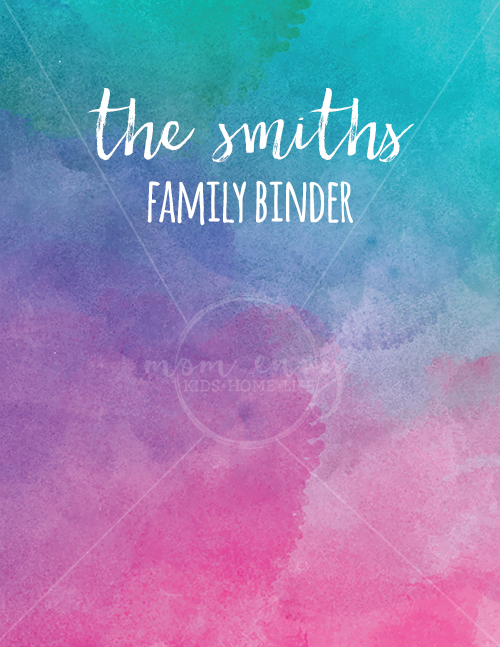 Family Binder Covers Free Planner Covers Amp Family Binder