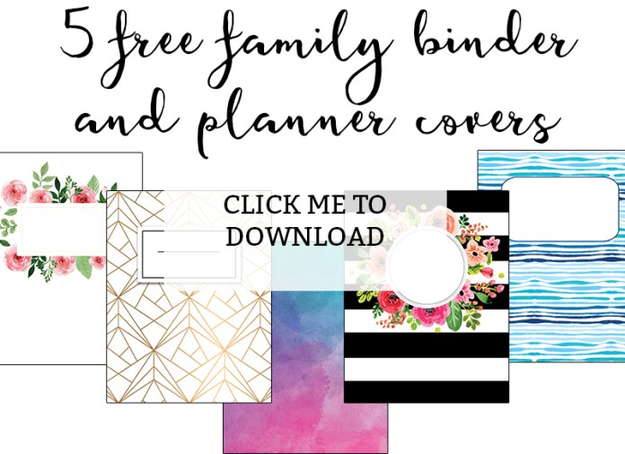 Family Binder Covers - Free Planner Covers & Family Binder ...