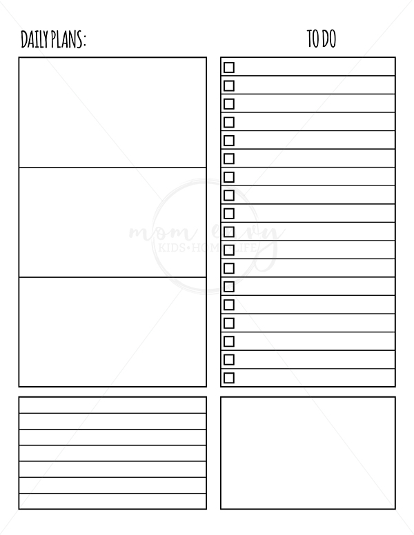 Free Weekly Planner Inserts & Daily Inserts - Available in ...