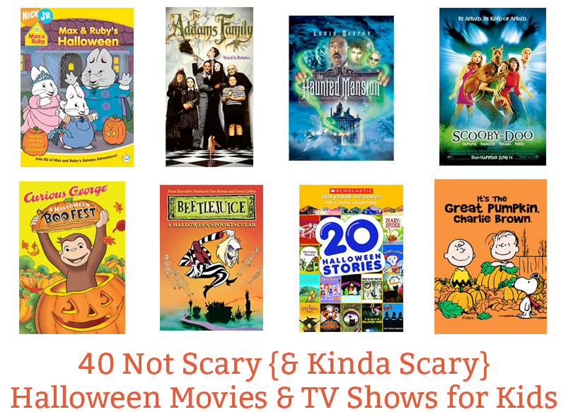 40 Not So Scary {& Some Kinda Scary} Halloween Movies & Shows for ...