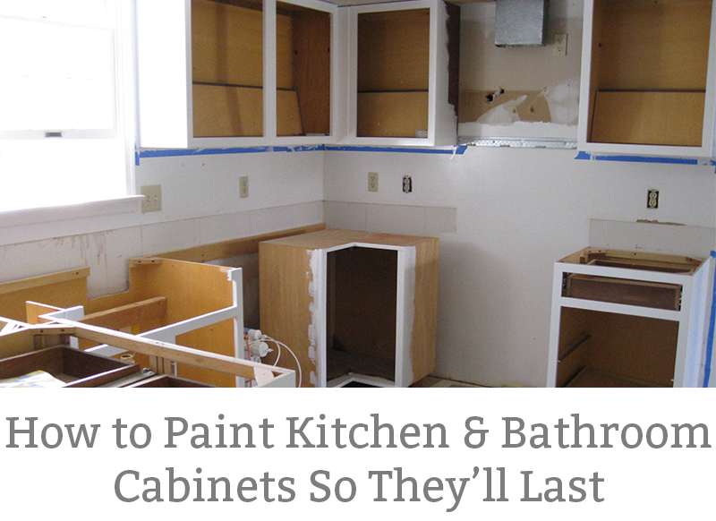 How To Paint Kitchen Cabinets So They Last. I Used This Method And My  Cabinets