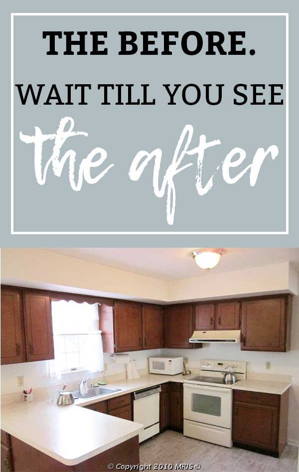 Kitchen Remodel. See how this 1980's kitchen gets some traditional farmhouse kitchen style in this kitchen remodel. See how paint transforms the kitchen cabinets and takes this kitchen from 80's oak to amazing. #kitchen #kitchenremodel #whitekitchen #diykitchen