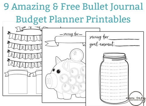 Bullet Journal Inspired Free Printables Mom Envy