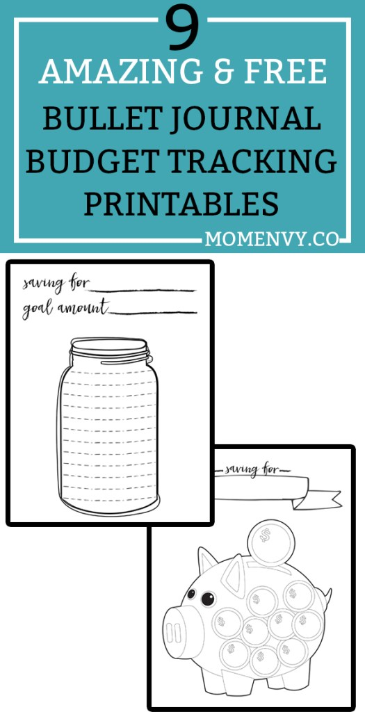 Free Budget Planner Printables   Free Bullet Journal Style Printables