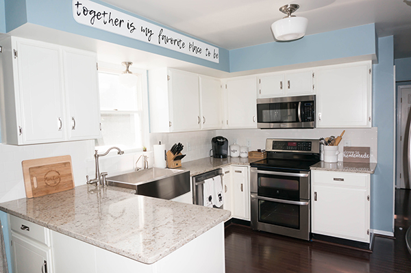 easy kitchen remodel 2 hole faucet farmhouse after 25 mom envy