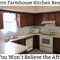 Easy Kitchen Remodel Cabinet Refinishing Kit Part 1 The 1980 S Before And Remodeling Plan Modern Farmhouse White Diy