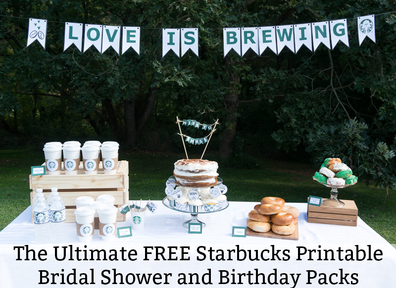 Free Birthday Starbucks ~ Free starbucks party printables for baby showers birthday partis