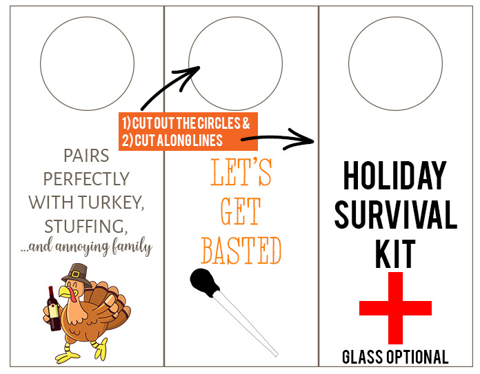 funny Holiday survival kit