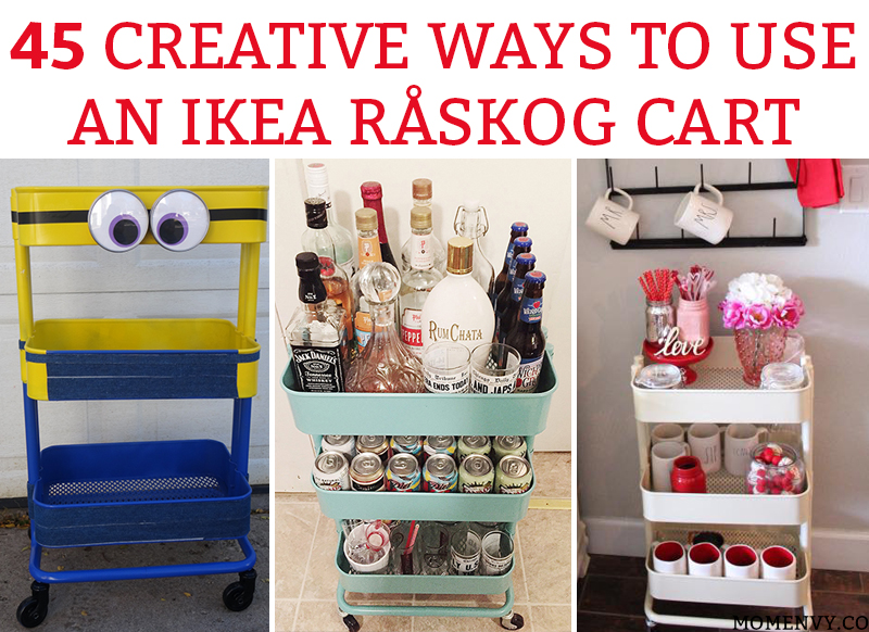 45 creative ways to use a r skog ikea cart organization ideas. Black Bedroom Furniture Sets. Home Design Ideas