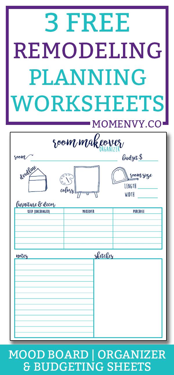 remodeling planner 3 worksheets to help plan your next makeover makeover budgeting sheet