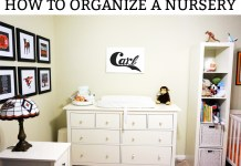How to Organize a nursery. Learn some easy tips to setting up a nursery before the baby gets here. Free diagram included. #nursery #pregnancy #organization #nurserydecor
