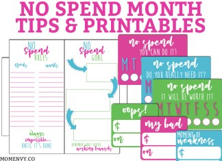 No Spend Month Tips and Free Printables. Learn some tips how to survive a No Spend month and get some FREE printables (perfect for your planner) to help you succeed! #nospend #budgeting #planneraddict #plannerlove