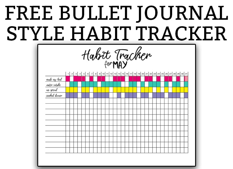 habit tracker bullet journal free printable bullet journal habit