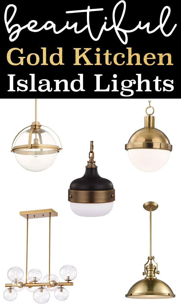 the best gold kitchen island lights