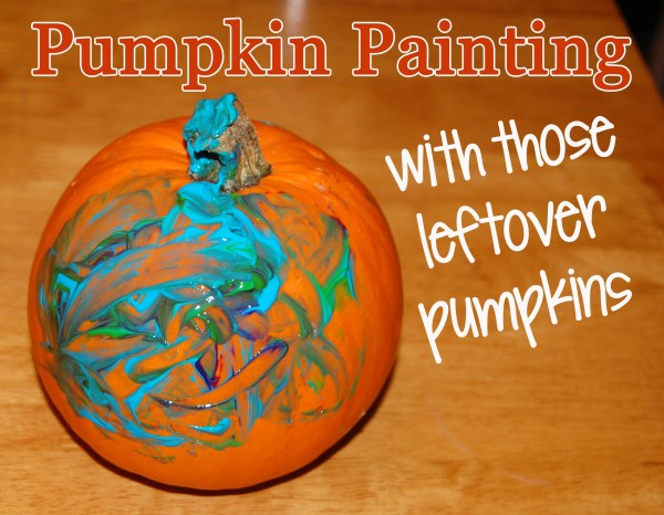 Pumpkin Painting with those leftover pumpkins